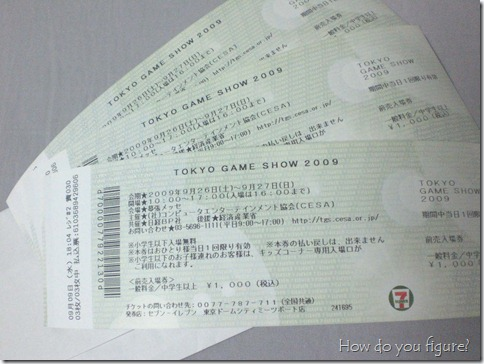 TGS tickets!
