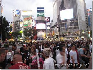 Busy Shibuya crossing